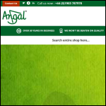 Screen shot of the Angal Collection Boxes & Devices Ltd website.