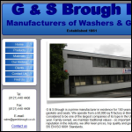 Screen shot of the G & S Brough Ltd website.