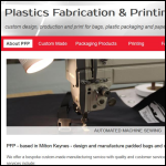 Screen shot of the Plastics Fabrication & Printing Ltd website.