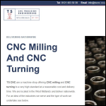 Screen shot of the TS CNC Ltd website.