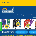 Screen shot of the Sailflags website.
