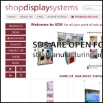 Screen shot of the Shop Display Systems Ltd website.