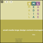 Screen shot of the Small-Media-Large website.