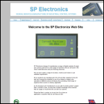 Screen shot of the SP Electronics website.