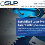 Screen shot of the Specialised Laser Products Ltd website.