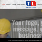 Screen shot of the TL Productions website.