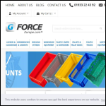 Screen shot of the G-Force Europe website.