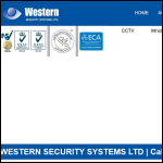 Screen shot of the Western Security Systems Ltd website.
