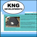 Screen shot of the K N G Developments website.