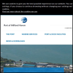 Screen shot of the Milford Haven Port Authority website.