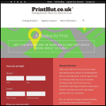 Screen shot of the Print Hut Ltd website.