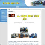 Screen shot of the A. Lewis Skip Hire website.