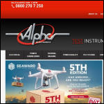 Screen shot of the Alpha Electronics (Southern) Ltd website.