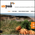 Screen shot of the Stirfresh website.