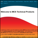 Screen shot of the MCS Technical Products website.