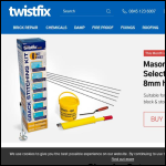 Screen shot of the Twistfix Ltd website.
