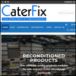 Screen shot of the Caterfix Ltd website.