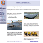 Screen shot of the Catalogue Engineering Ltd website.