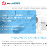 Screen shot of the CMI Healthcare Services Ltd website.