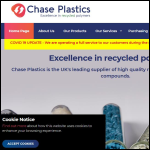 Screen shot of the Chase Plastics Ltd website.