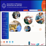 Screen shot of the Association of Pharmacy Technicians (UK) website.