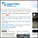 Screen shot of the GFP Engineering Ltd website.