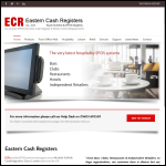 Screen shot of the Eastern Cash Registers (Norwich) Ltd website.