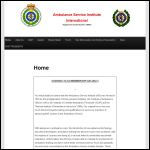 Screen shot of the Ambulance Service Institute website.