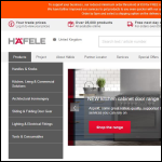Screen shot of the Hafele U.K. Ltd website.