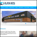 Screen shot of the Hughes Pumps Ltd website.