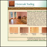 Screen shot of the Home Oak Trading website.
