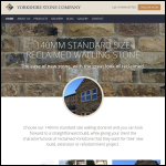 Screen shot of the The Yorkshire Stone Company website.