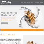Screen shot of the Rotalube Systems Ltd website.
