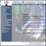 Screen shot of the Treble R Fabrications website.