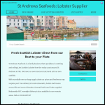 Screen shot of the St Andrews Seafoods website.