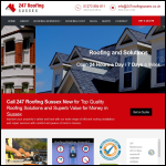 Screen shot of the 247 Roofing Sussex website.