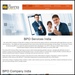 Screen shot of the BPO Services website.