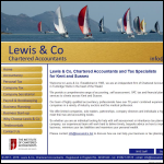 Screen shot of the Lewis & Co website.