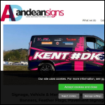 Screen shot of the Andean Signs Ltd website.