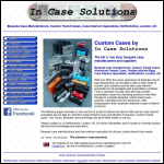 Screen shot of the In Case Solutions website.
