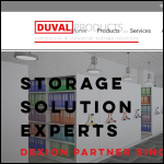 Screen shot of the Duval Products Storage Equipment Ltd website.