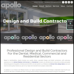 Screen shot of the Apollo Interiors Ltd website.