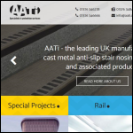 Screen shot of the Aati Commercial Ltd website.