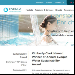 Screen shot of the Evoqua Water Technologies Ltd website.