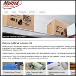 Screen shot of the Martek Industries Ltd website.
