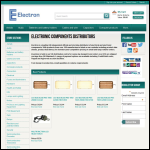 Screen shot of the Electron Electronics website.