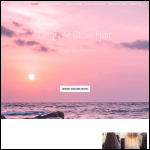 Screen shot of the Leigh Hair At Glow Hairdressers website.