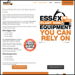 Screen shot of the Essex Plant Hire website.