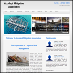 Screen shot of the Accident Mitigation Association website.
