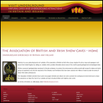 Screen shot of the Association of British & Irish Showcaves (ABIS) website.